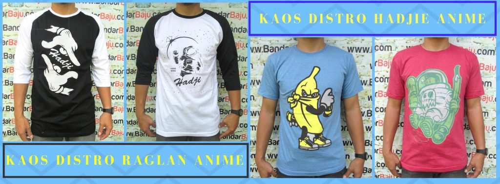 Grosir Baju Distro Bandung Murah Distributor Kaos Distro Hadjie Anime Pria Dewasa Murah Bandung 25Ribu