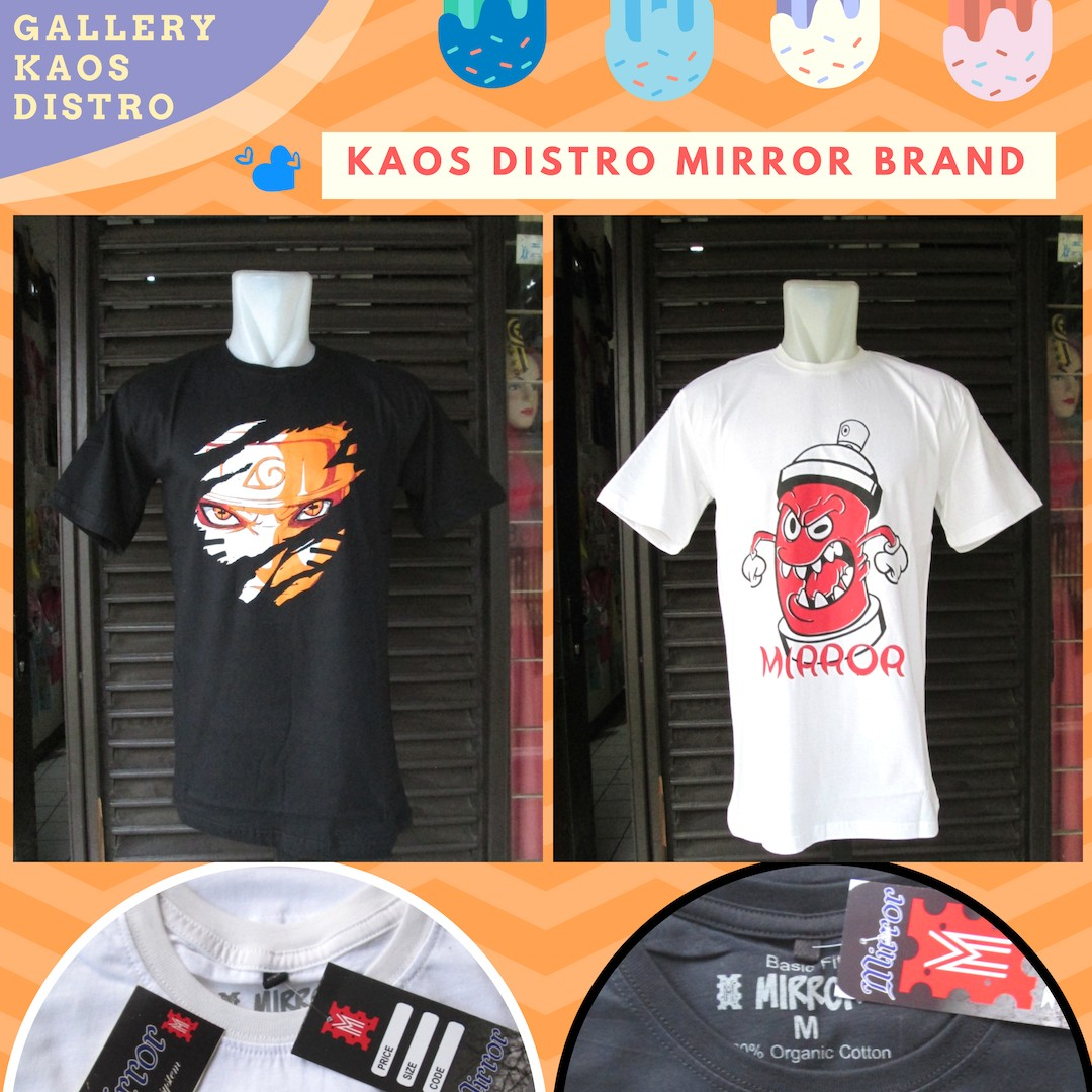 Grosir Baju Distro Bandung Murah Distributor Kaos Distro Mirror Brand Dewasa Murah di Bandung 34Ribu