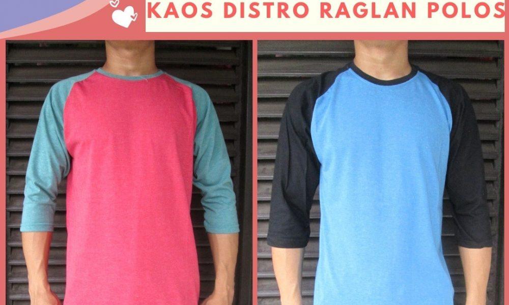 Grosir Baju Distro Cimahi Murah Reseller Kaos Distro Raglan Polos Dewasa Termurah di Bandung 30Ribu