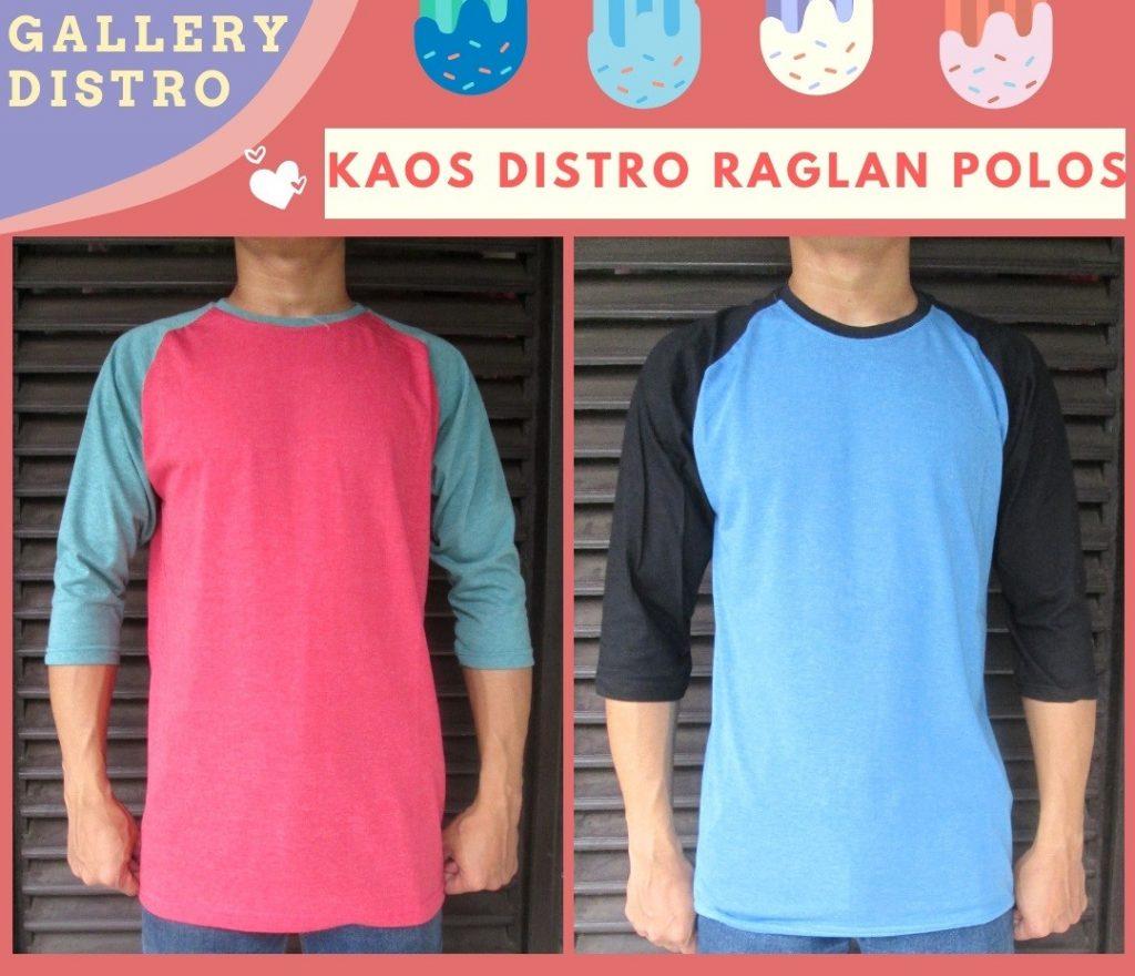 Grosir Baju Distro Bandung Murah Reseller Kaos Distro Raglan Polos Dewasa Termurah di Bandung 30Ribu